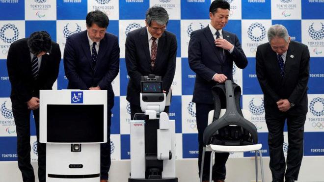 Presentación de los robots asistentes para Tokio 2020.