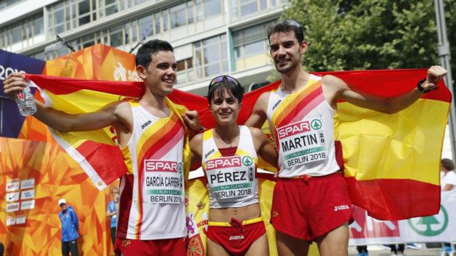 Diego García Carrera, María Pérez y Álvaro Martín, medallistas en...