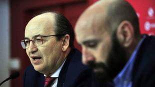 Castro y Monchi, en una rueda de prensa.