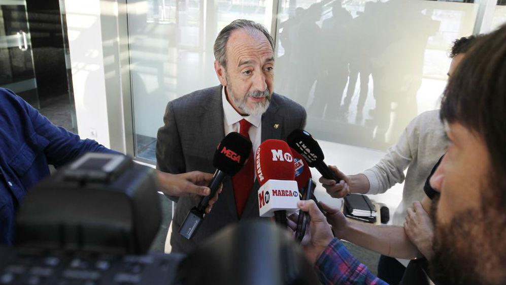 El presidente de la Federación madrileña, Paco Díez.