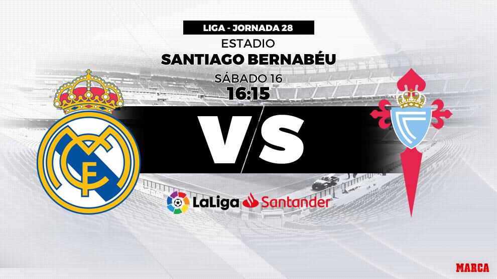Real Madrid - Celta: hora y dónde ver hoy en directo por televisión