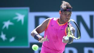 Rafael Nadal, durante el torneo de Indian Wells 2019