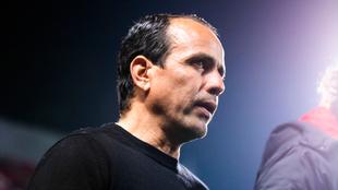 Óscar Pareja durante el partido ante el Atlas