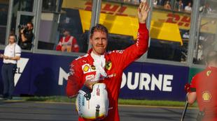 Vettel saluda en Albert Park.
