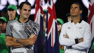 Roger Federer y Rafael Nadal, tras uno de sus partidos