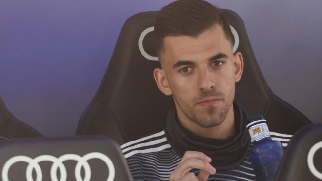 Ceballos on the bench.