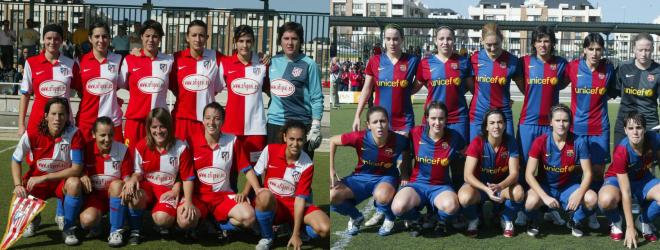 Onces del primer Atlético-Barcelona en 2006.