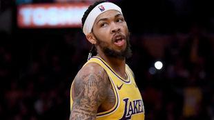 Brandon INgram, en un partido con los Lakers.