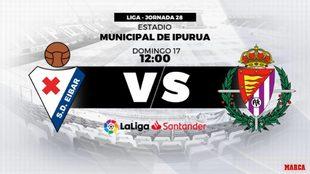 Eibar - Valladolid: hora y dónde ver hoy en directo por televisión