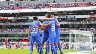 Celebración de los azules.