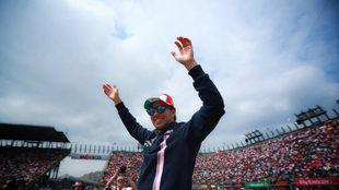 Checo durante el Gran Premio de México 2018/