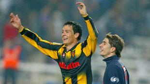 Galletti celebra su gol en aquella final de Copa del Rey.