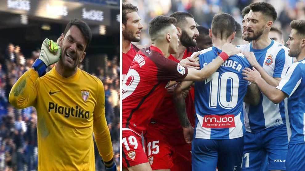 En la foto de la izquierda, el gesto de Soriano y, en la derecha, la...
