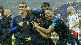 Griezmann y Mbappé son los actuales campeones del mundo.