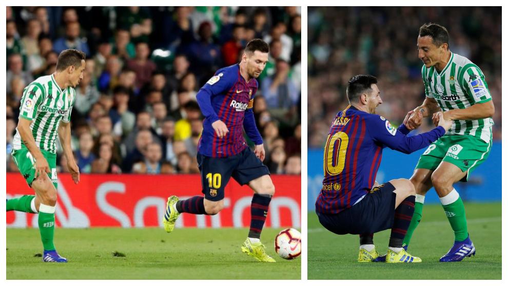 Difícil noche de Guardado frente al Barcelona y Messi