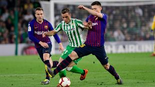 Lo Celso, en el partido frente al Barça