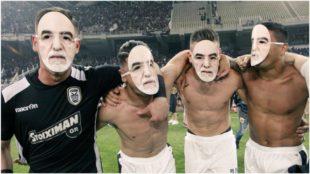 Los jugadores del PAOK piden justicia para Ivan Savvidis.