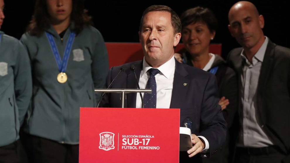 Rafael del Amo, presidente del Comité de Fútbol Femenino de la RFEF.