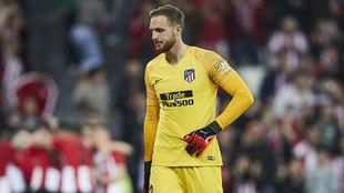 Jan Oblak, en un partido con el Atlético.
