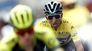 Egan Bernal, el domingo en la última etapa de la París-Niza.