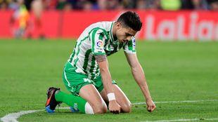 Bartra, durante el partido frente al Barcelona