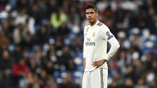 Varane, esta temporada,con el Real Madrid.