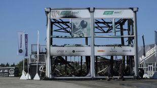 Así quedó la carpa con las MotoE en Jerez.