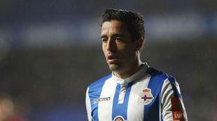 Pedro Sánchez, con el Deportivo esta temporada.