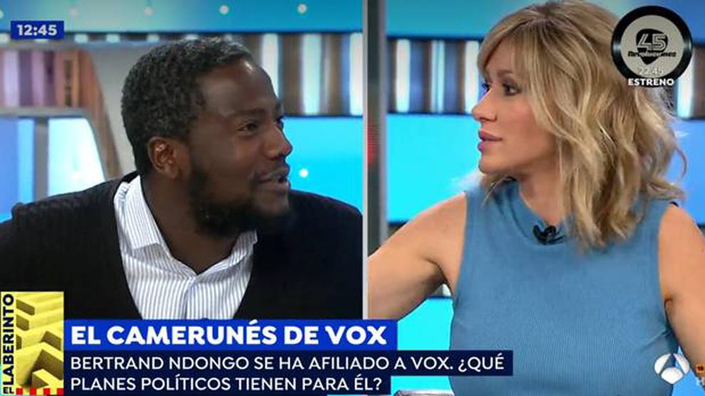 Susanna Griso protagoniza un encontronazo con 'el negro de Vox'