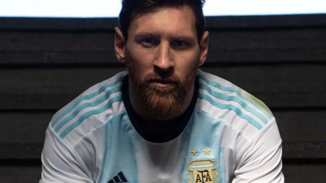 5514ab4df Argentina include Messi in promotion of new shirt