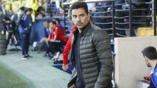 Míchel, en su último partido como entrenador del Rayo, frente al...