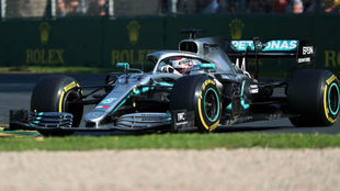 Hamilton, durante la carrera del GP de Australia.