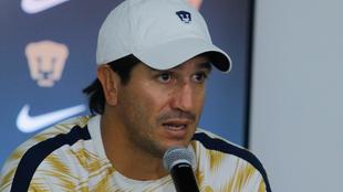Bruno Marioni en conferencia de prensa.