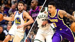 Los Warriors brillan y los Lakers se hunden.