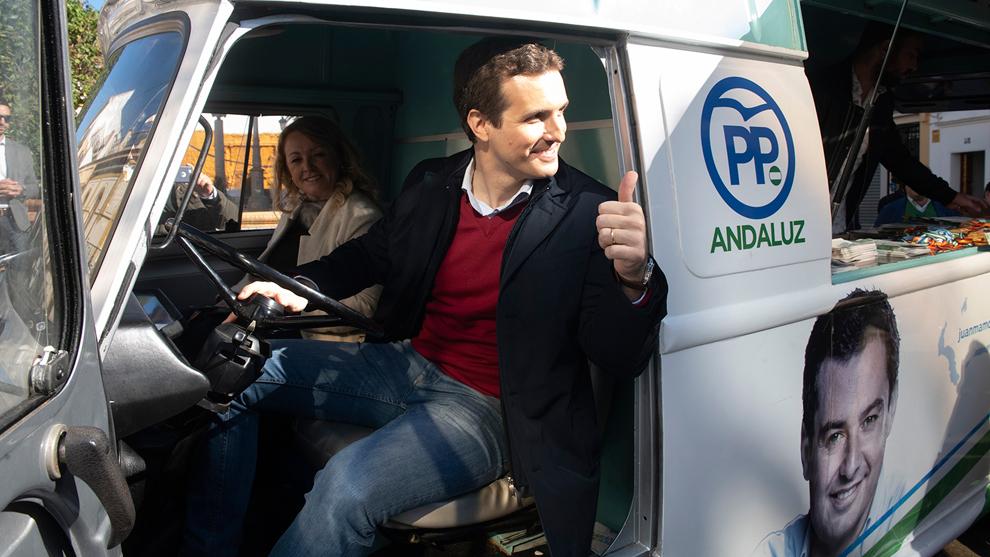 Pablo Casado, candidato a la presidencia del Gobierno por el PP.