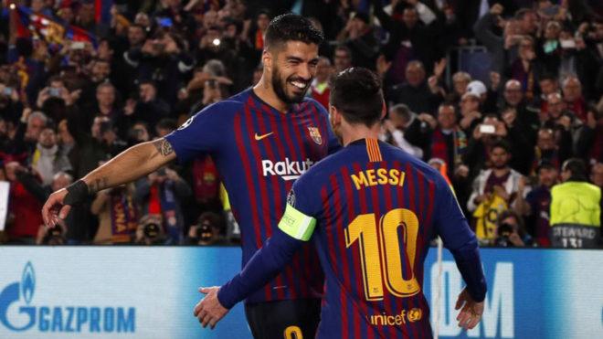 Luis Suarez and Leo Messi
