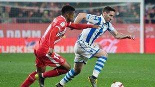 Zaldua, en el partido contra el Girona.