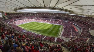 El Wanda Metropolitano, lleno para el Atlético vs Barça femenino.