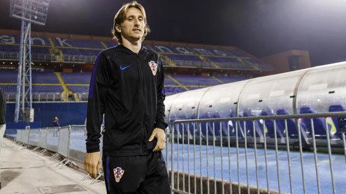 Luka Modric, durante una concentración con la selección de Croacia.