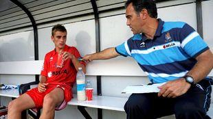 Martín Lasarte junto a Griezmann durante su etapa en la Real Sociedad