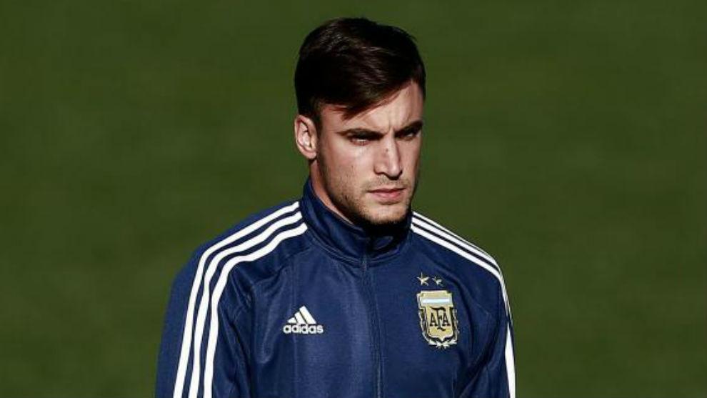Tagliafico con la selección argentina