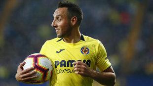 Cazorla, en un partido con el Villarreal.