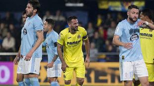 Imagen del Villarreal-Celta disputado en el estadio de La Cerámica.