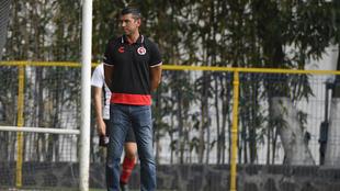 Franky Oviedo visitó la concentración de la selección mexicana.