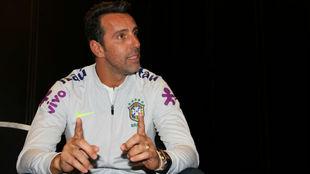 Edu Gaspar, director deportivo de Brasil, en su entrevista con MARCA.