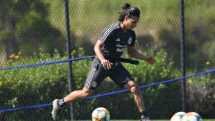 Diego Lainez continúa su preparación con la selección mexicana.