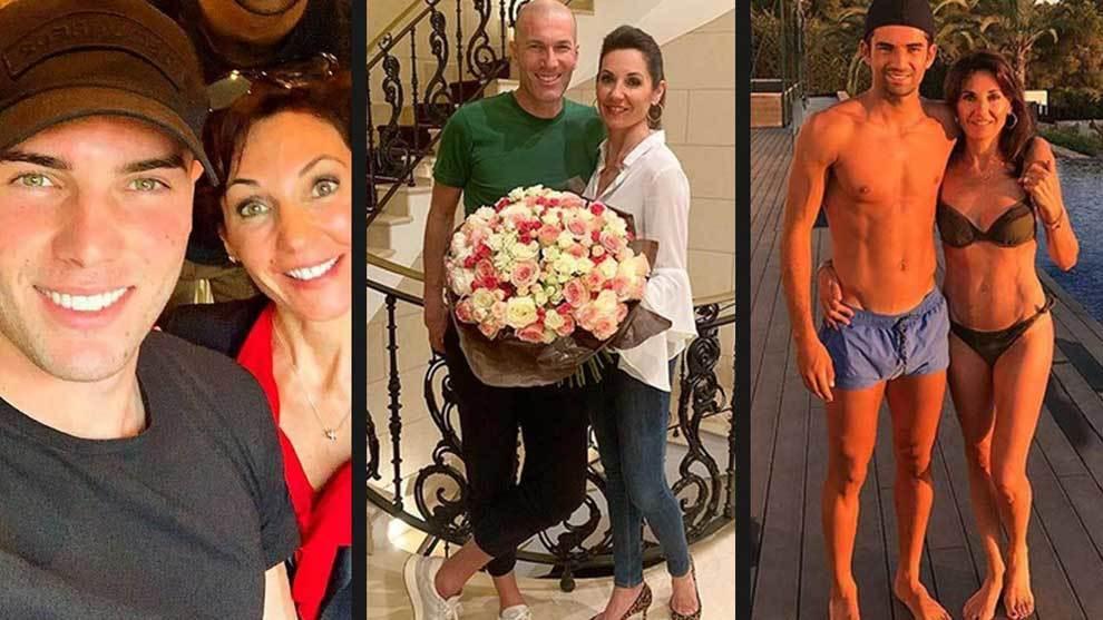 Luca, Zinedine y Enzo Zidane felicitaron a Véronique Fernández por...