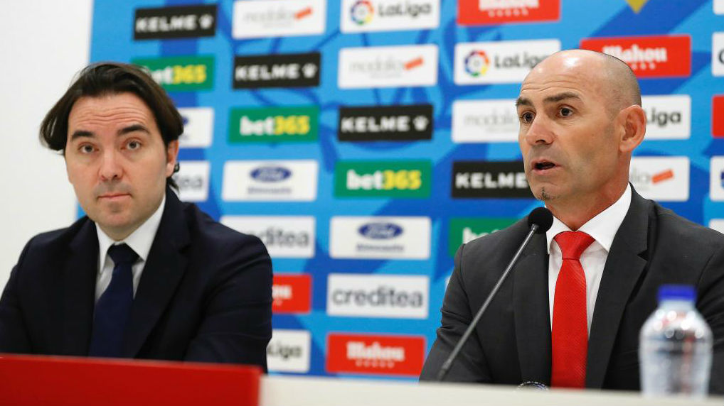 El presidente del Rayo, Martín Presa, en la presentación de Paco Jémez.