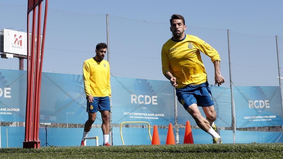 Víctor Sánchez, durante una sesión de entrenamiento