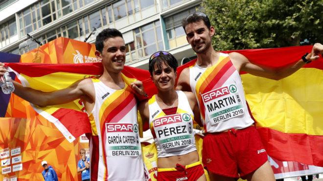 Diego G. Carrera, María Pérez y Álvaro Martín, en Berlín